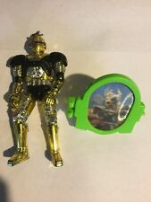 1996 Beetleborgs Gold Tone Action Figure With Wristband Toy Bandai