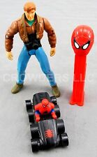 Marvel Spider-Man Peter Parker w/ Camera 8 wheeled Spidey Car & Pez Dispenser 94