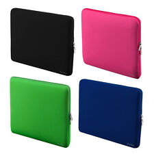"Zipper Morbido Manica Borsa per MacBook Air Retina NOTEBOOK 13"" 13.3""bag COLORE NERO"