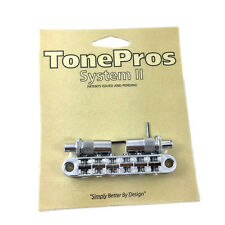 "TonePros T3BT Chrome Locking ""Big Hole"" T-O-M Style Guitar Bridge GB-0528-010"