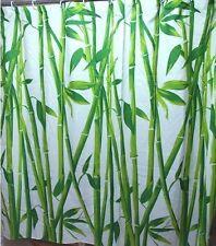 Rideau De Douche En Tissu Bambou 180x180 cm Séparation pièce incl. Anneaux