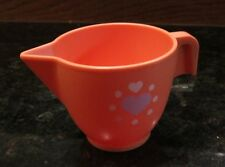 Fisher Price Fun with Food Drink Vintage Pink Tea Creamer Heart Milk pitcher Cup