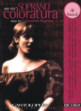 Arias for Coloratura Soprano Volume 2 Cantolopera Series with a CD of  050489948