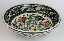 LARGE PALESTINE Antique IZNIK STYLE ISLAMIC BOWL c1920's
