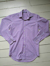 Boden pink gingham check long sleeve shirt Size XS