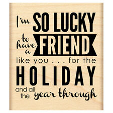 New Penny Black HOLIDAY FRIEND Rubber Stamp Holiday Christmas Verse Sentiment