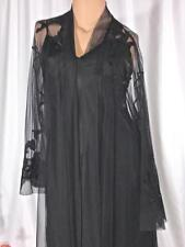Victoria's Secret Black Gown Robe Negligee Set Size XS/S NWOT