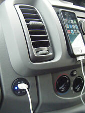VAUXHALL VIVARO TRAFFIC Primaster Dashboard DUE PORTE USB IPHONE PRESA B/LED