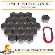 TPI Chrome Wheel Bolt Covers 17mm Nut Caps for VW Passat [B8] 14-16