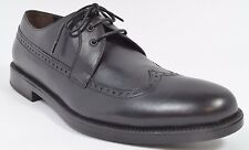 A .Testoni BASIC Mens Calfskin Derby Wingtip Dress Shoes Size 9 Black NEW