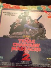 Texas Chainsaw Massacre 2 Leatherface Laserdisc