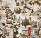 Lot of 32 Mixed Vintage Retro EU US Building Old Travel Postcards Post Cards