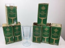 8 Vtg DUZ Advertising Premium STAR SAPPHIRE Aqua Blue Goblets Water Tea 7 Boxes
