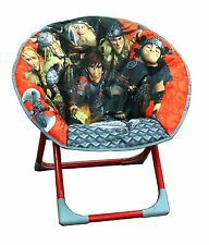 HOW TO TRAIN YOUR DRAGON KIDS FOLDABLE CUSHIONED COMFORTABLE MOON CHAIR
