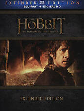 The Hobbit Trilogy (Blu-ray Disc, 2015, 9-Disc Set, Extended Edition) NEW