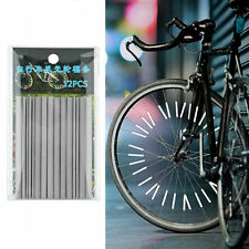 Bicycle Wheel Spoke Reflector Reflective Mount Clip Tube Warning Strip LE