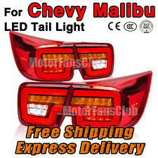 New Red LED Rear Break Tail Lamp Light 4PCS Assy For Chevy Malibu 2012 2013 2014