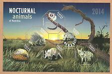 Namibia - Nachttiere Block 84 postfrisch 2014 Mi. 1466-1471