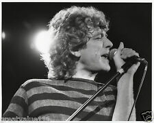 LED ZEPPELIN PHOTO ROBERT PLANT 1984 UNIQUE IMAGE UNRELEASED HUGE 10INCH B&W GEM