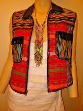 Boho Chic Vibrant Colorful Long Fringe Bead Rainbow Necklace NEW ZAD