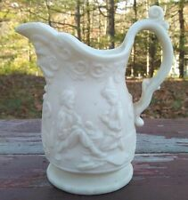 ANTIQUE PARIAN WARE CREAM PITCHER - FIGURAL / CHILDREN