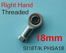 2x Right 18mm SI18T/K PHSA18 SI18P/K NHS18 Threaded Female Rod End Joint Bearing