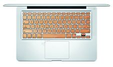 Wood Style Macbook Pro Air Keyboard Decal Sticker Skin 13 15 17 inch Wireless WD