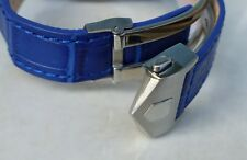 20mm BLUE COLOR Carrera Monaco Band Strap Alligator-Style w/Clasp for TAG Heuer