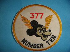 WH PATCH US 377th MEDICAL Co.  NUMBER TEN AND MICKEY MOUSE WINGED ""