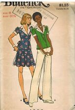 3469 UNCUT Vintage Butterick SEWING Pattern Misses Top Skirt Pants 8 1070's OOP