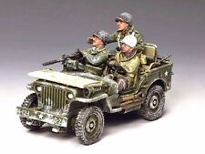 "KING & COUNTRY BBAO84 WWII ""THE WINTER JEEP"" BATTLE OF THE BULGE  DEC. 1944 MIB"