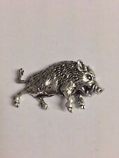 Wild Boar 3 Z68 Made from Solid Fine English Pewter Pin Lapel Badge