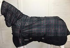 AXIOM 1800D BALLISTIC WATERPROOF GREEN/BLACK CHECK 300g HORSE COMBO RUG - 6' 3