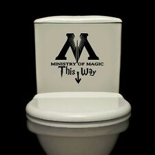 Ministry Of Magic This Way Vinyl Sticker Toilet Seat Wall Decals Home Decor DIY