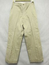 A7002 US Army Light Brown 1940's Button Fly Military Pants Men 31x29