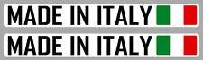 2 X MADE IN ITALY ITALIE FIAT VESPA 15cmX2cm AUTOCOLLANT STICKER AUTO MA208