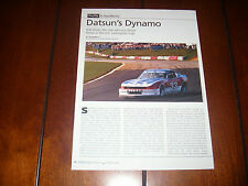 BOB SHARP DATSUN 240Z RACE CAR  280ZX FAIRLADY  -  Original 2005 Article