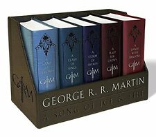 George R. R. Martin's Complete A Game of Thrones 5 Leather Bound Book Boxed Set