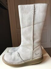 Dr Martins Designer Ladies Women Calf/Knee High Shoe Flat Leather Boot Size 4 37