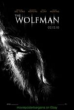 THE WOLFMAN MOVIE POSTER Orig. DS 27x40 Universal Horror BENICIO Advance Style
