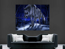 WOLF SCARY ANGRY ARTIST WINTER  WALL POSTER ART PICTURE PRINT LARGE