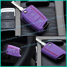 VW Key Case for New Golf MK7 Top Quality Silicone Purple Color Special Edition