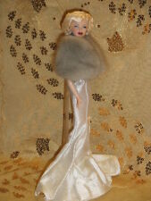 **SALE**SILVER MINK STOLE for VINTAGE SILKSTONE MARILYN MONROE BARBIE DOLL~