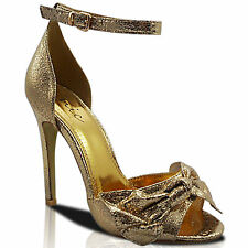 NEW WOMENS LADIES HIGH HEEL STILETTO PEEP TOE ANKLE STRAP SHOES SANDALS SIZE
