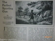 The Perfect Sporting Gun & Poacher Poaching Rare Old Antique Photo Articles 1907