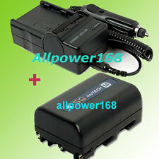 Battery + Charger for SONY Camcorder NP-FM50 NP-FM30 NEW DCR-PC100 DCR-PC110