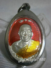 Coin Red LP Khoon Wat Baanrai Thai Buddha Amulet year 2012  Pendant Lucky Geniue
