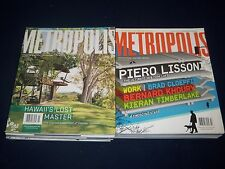 2000S METROPOLIS MAGAZINE LOT OF 11 ISSUES - DESIGN - ARCHITECTURE - O 639