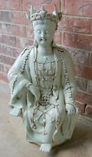 Chinese Porcelain Celadon Guanyin Kwan-yin 25 Inches Tall Qing Dynasty