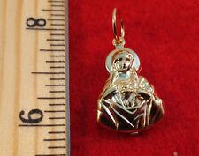14KT GOLD EP PUFFED VIRGIN MARY CHARM PENDANT A-59